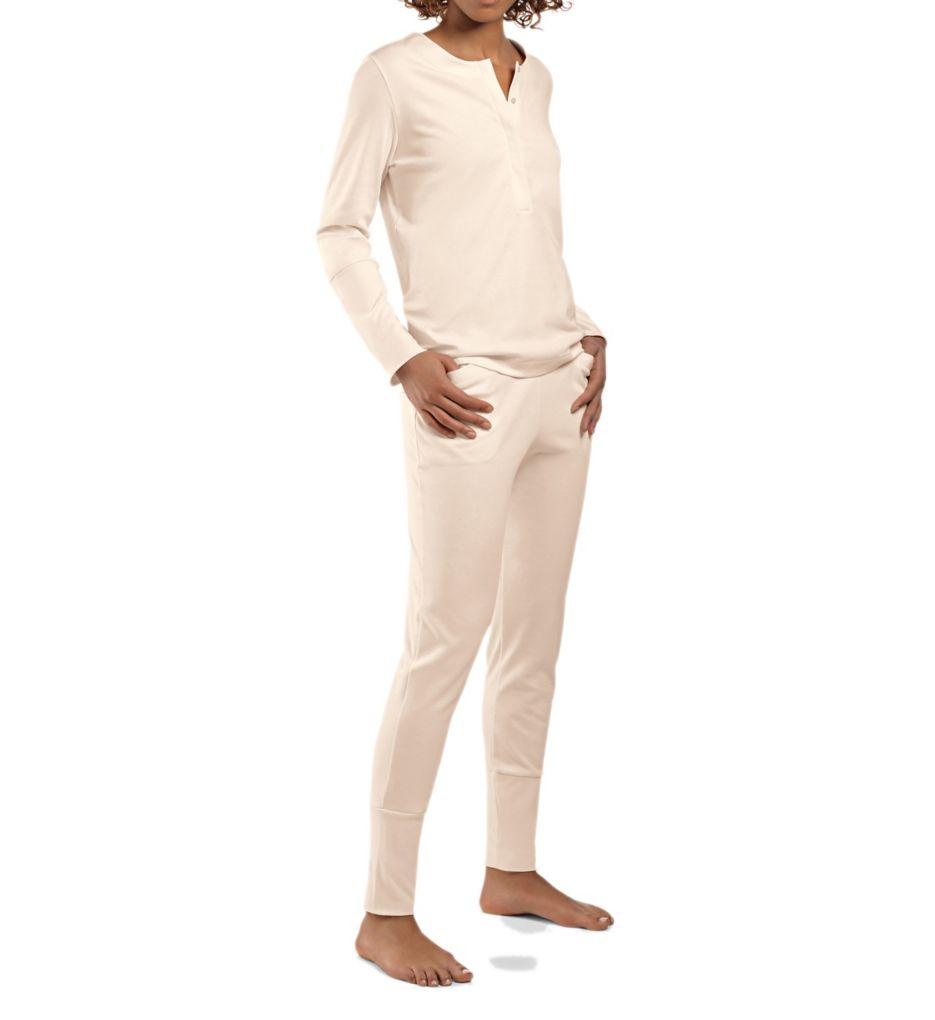 Hanro Alice Brushed Back Mercerized Cotton Pajama