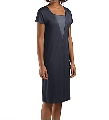Hanro Viola V-Shaped Silk Inset Short Sleeve Gown