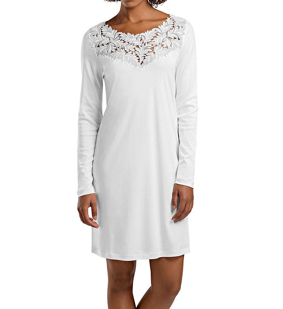 Hanro Frida Long Sleeve Gown