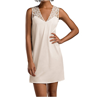 Hanro Daphne Lace Trim Tank Gown