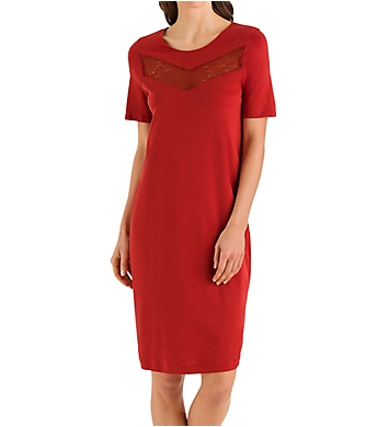Hanro Liv Short Sleeve Gown