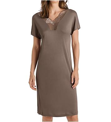 Hanro Irini Sleep Lace Trim Short Sleeve Gown