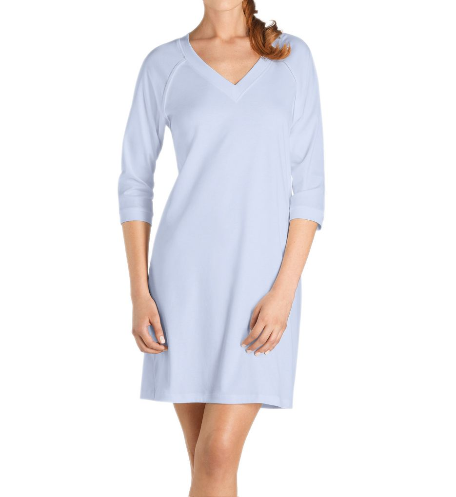 Hanro Pure Essence 3/4 Sleeve V Neck Sleep Gown