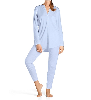 Hanro Pure Essence Long Sleeve Button Front Pajama
