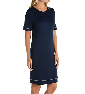 Hanro Natural Comfort Short Sleeve Gown