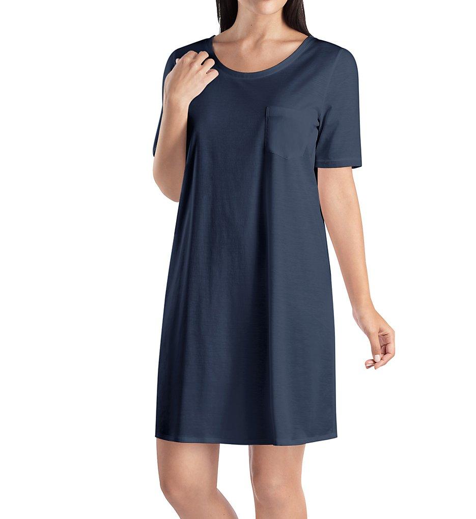 3e3a64dcde Hanro Cotton Deluxe Short Sleeve Big Shirt 7953 - Hanro Sleepwear