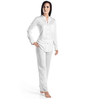 Hanro Cotton Deluxe Button Front Pajama Set