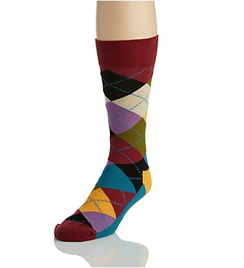Happy Socks Argyle Combed Cotton Crew Sock