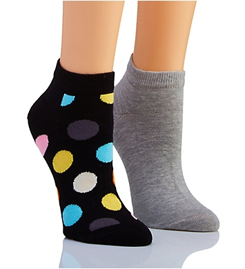 Happy Socks Polka Dot Low Sock - 2 Pack