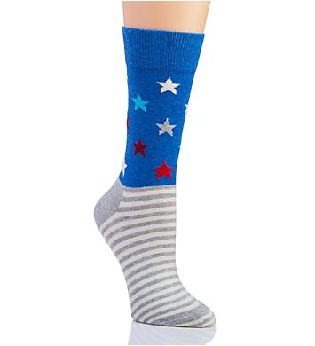 Happy Socks Americana Star Stripe Crew Sock