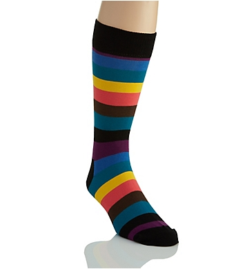 Happy Socks Stripe Combed Cotton Crew Sock