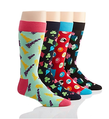 Happy Socks Game Night Socks - 4 Pack Gift Set