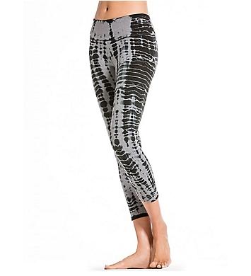 Hard Tail Flat Waist Printed Capri Legging