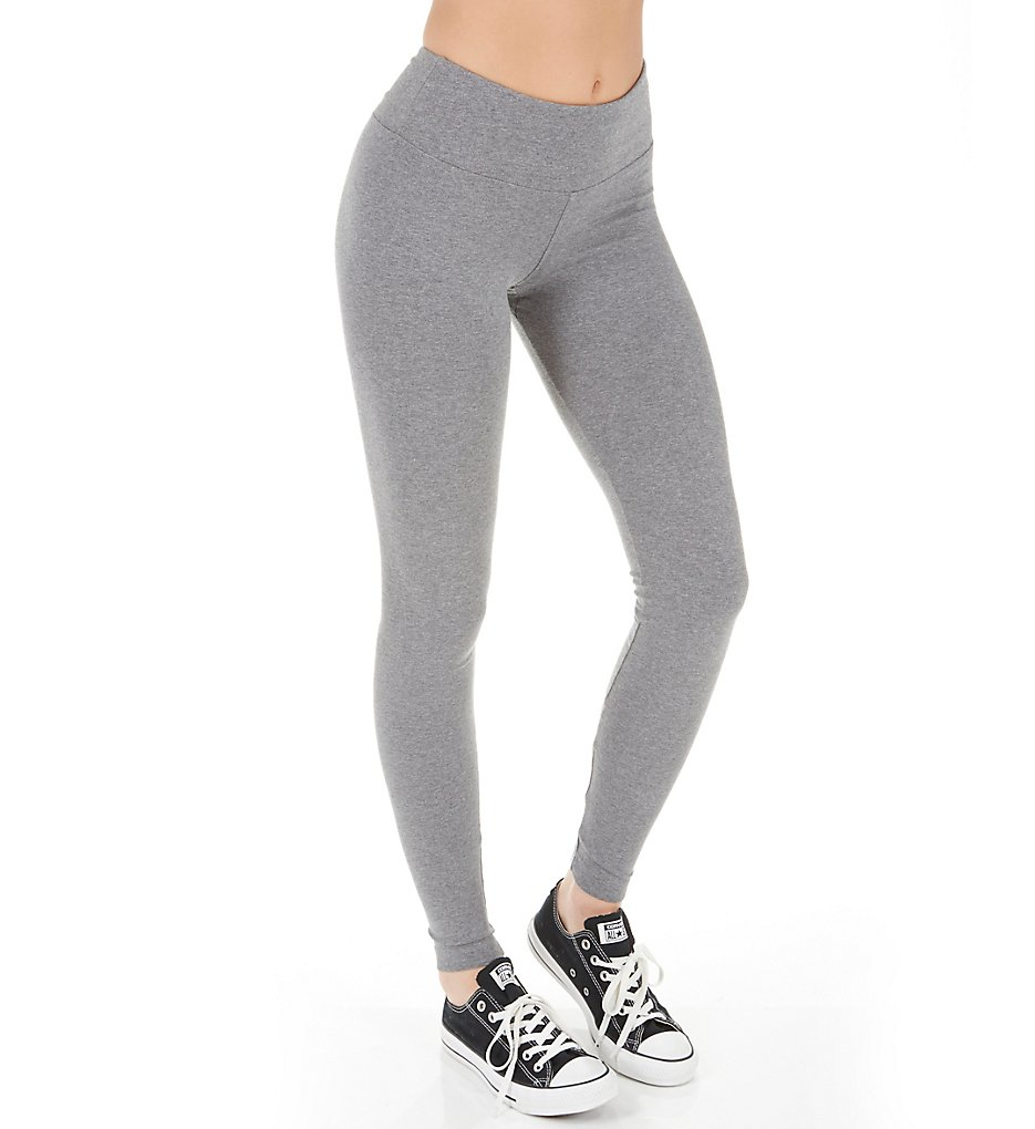 Hard Tail W-452 Flat Waist Ankle Legging (Charcoal Heather Gray)