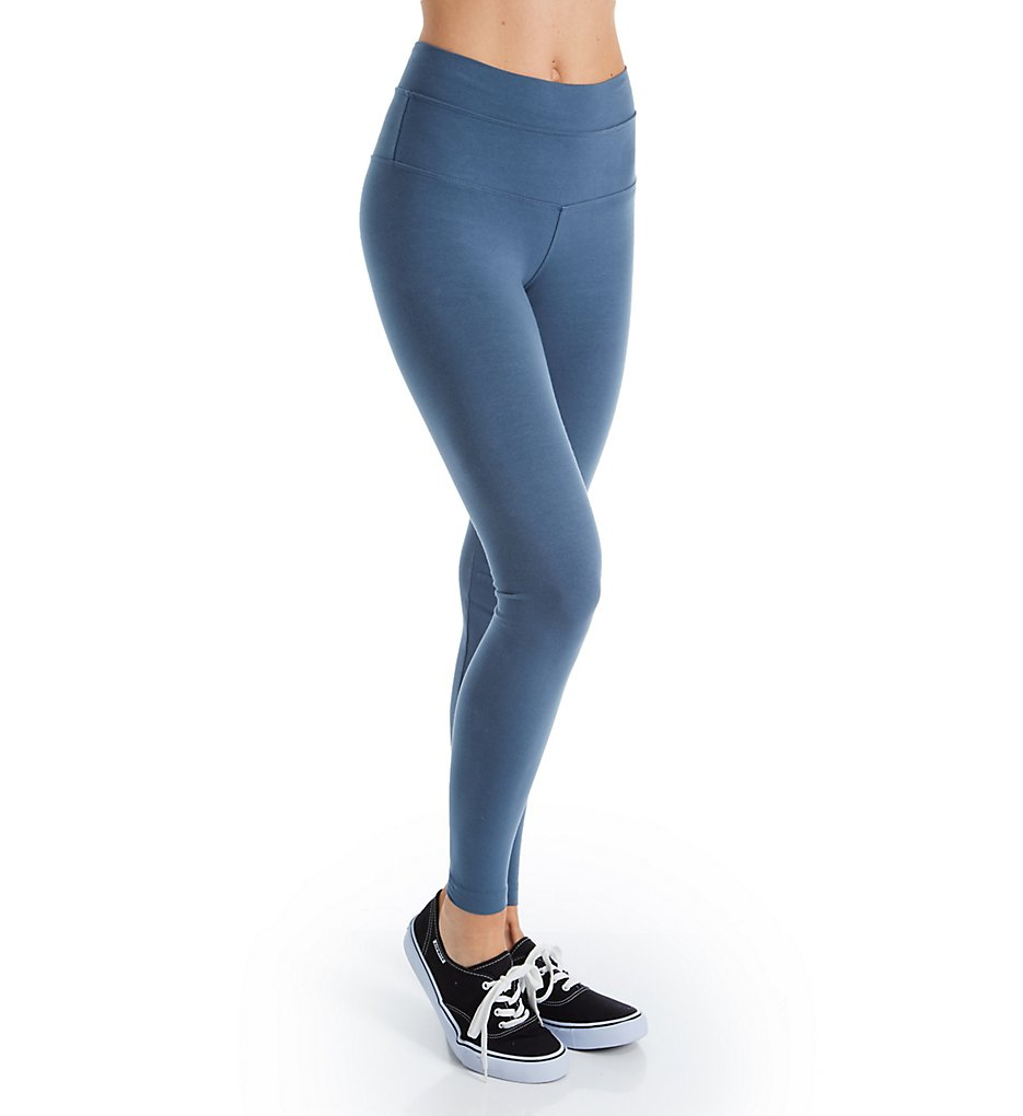 Hard Tail W-566 High Rise Ankle Legging (Steel Blue)