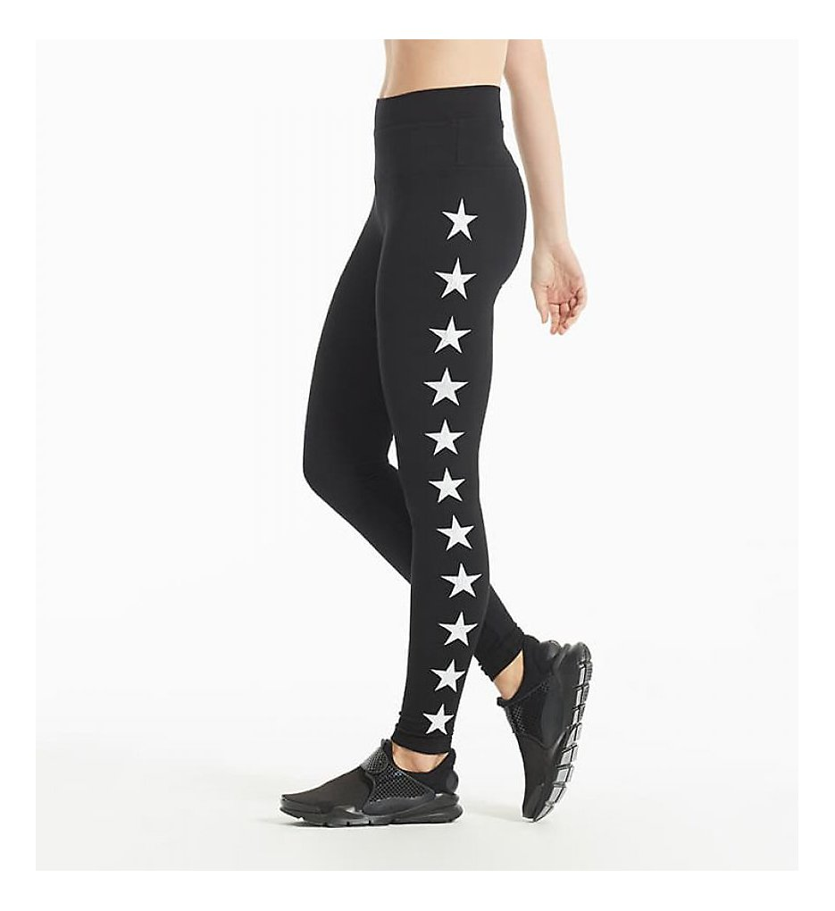 Hard Tail W566-505 High Rise All Star Printed Ankle Legging (Black/White)