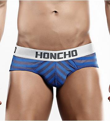 Honcho Mesh Striped Bikini Brief