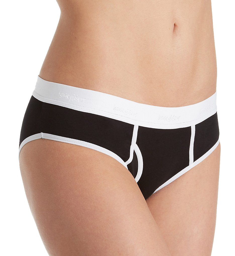 honeydew >> honeydew 18680 Charlie Boy Brief Panty (Black S)
