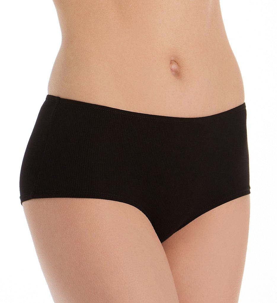 honeydew - honeydew 99383 Evie Rib Tie Back Hipster Panty (Black S)