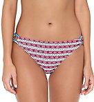 Americana Keyhole Tab Side Hipster Swim Bottom