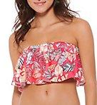Amazon Pop Flounce Bandeau Swim Top