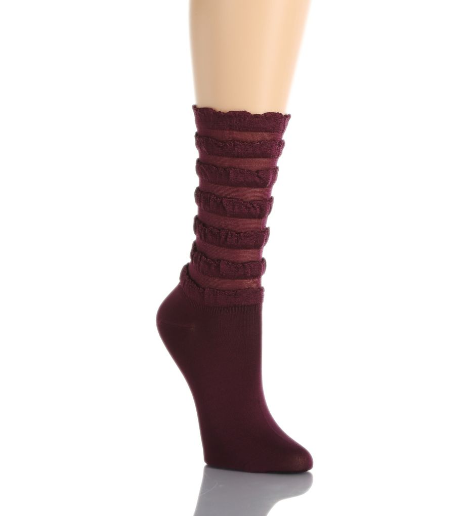 Hue Tiered Ruffled Sock