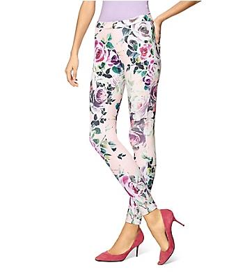 Hue Modern Twill Rose Leggings