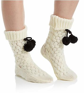 Hue Basket Weave Slipper Sock