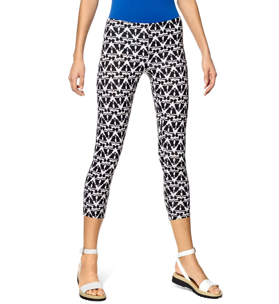 Hue Fashion Cotton Ikat Capri Leggings