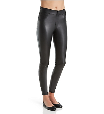 Hue Curvy Leatherette Leggings