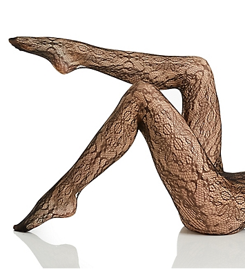 Hue Floral Lace Net Tights