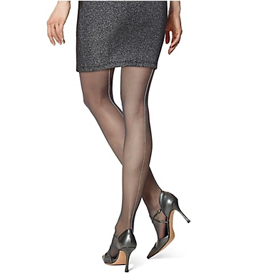 Hue Metallic Backseam Tights