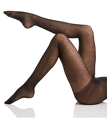 Hue Medallion Sheer Tights with Control Top