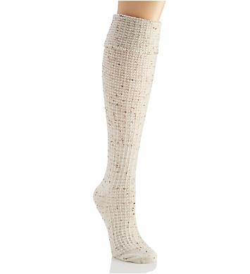 Hue Cuffed Waffle Tweed Knee Sock