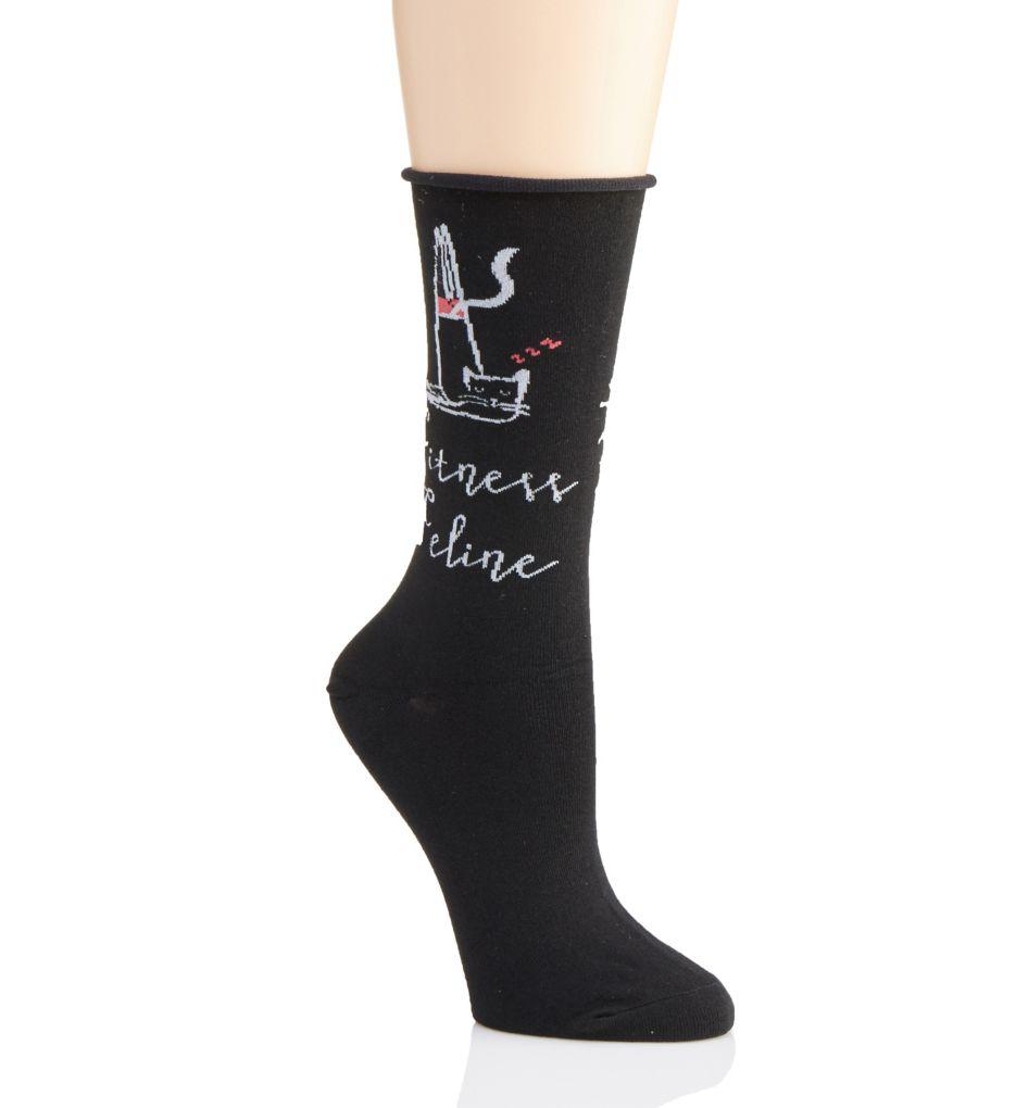 Hue Conversationals Roll Top Sock