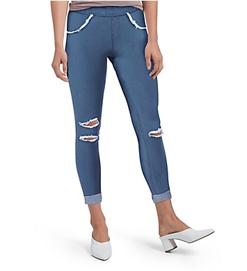 Hue Curvy Ripped Cuffed Denim Skimmer