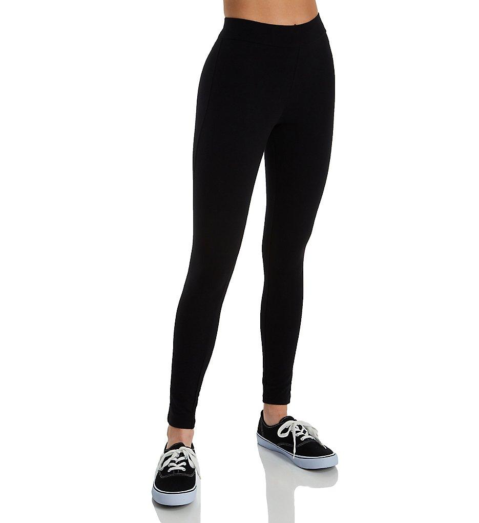 Hue 20481 Wide Waistband Blackout Cotton Leggings (Black)