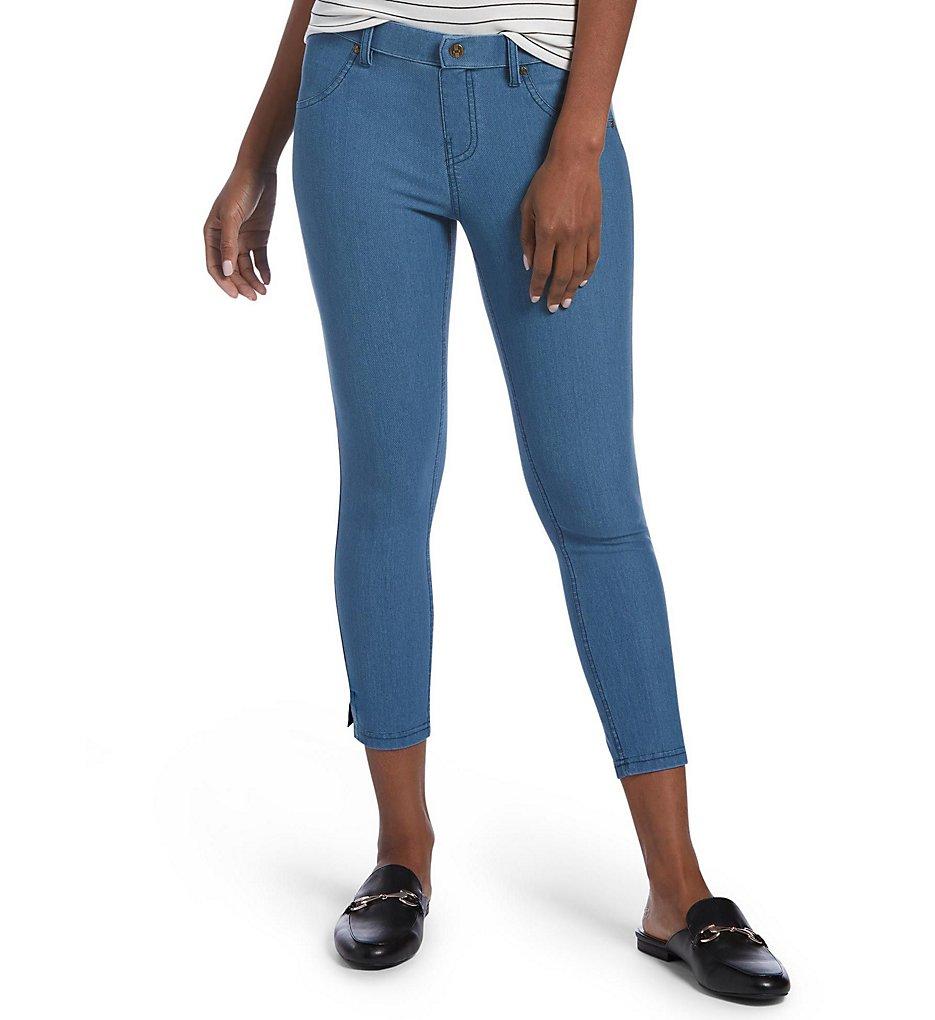 Hue 20508 Essential Denim Ankle Slit Capri Legging (Medium Wash)