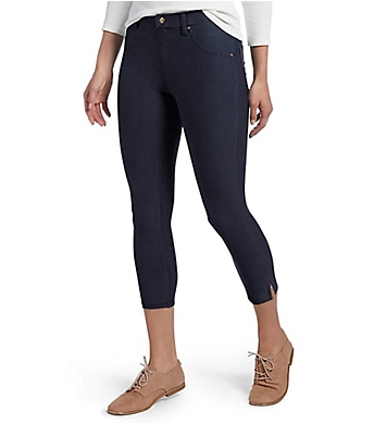 Hue Essential Denim Ankle Slit Capri Legging