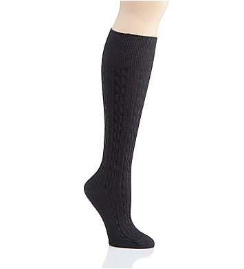 Hue Graduated Compression Cable Knee Socks