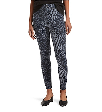 Hue Leopard Ultra Soft Denim High Waist 7/8 Leggings