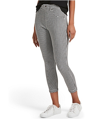 Hue Gingham Ultra Soft Denim High Waist Capri