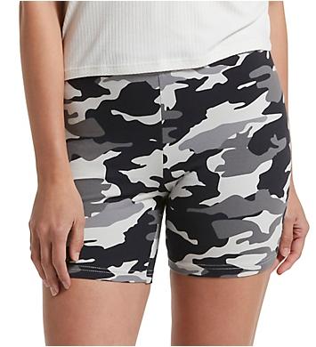 Hue Camo Cotton High Waist Bike Shorts