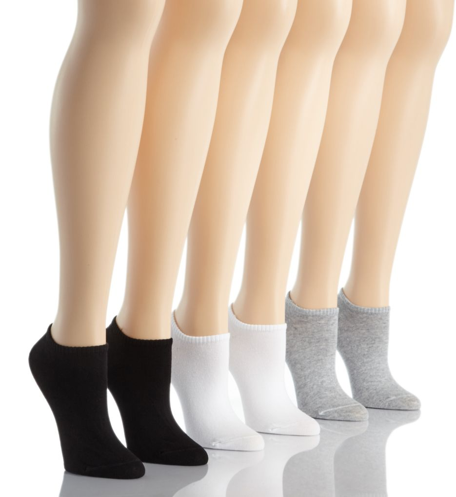 Hue Cotton Liner Socks - 6 Pack