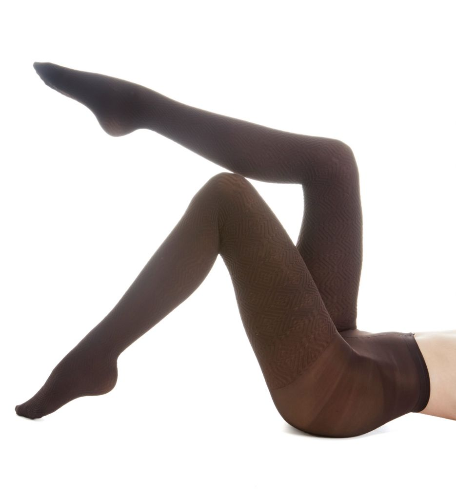 Hue Diamond Texture Tights with Control Top