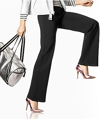 Hue Travelista Leatherette Trim Luxe Ponte Pant