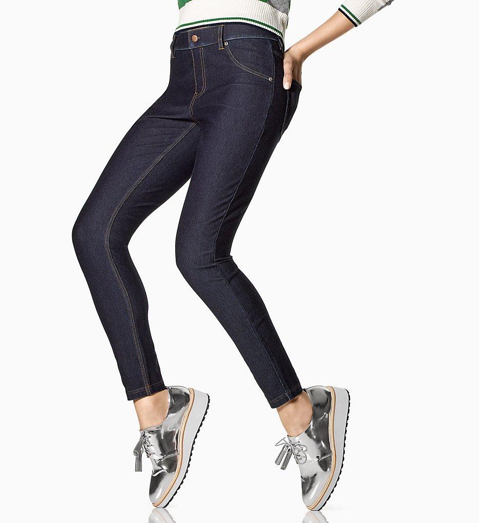 Hue U16924 Essential Denim Leggings (Deep Indigo Wash)