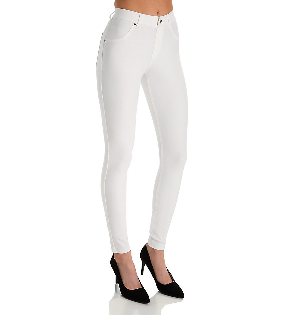 Hue U16924 Essential Denim Leggings (White)