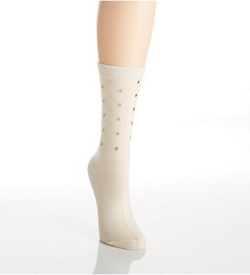 Hue Luxe Foil Sequin Sock