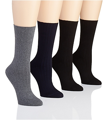 Hue Rib Dress Sock - 4 Pack